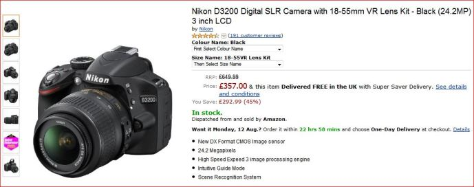 Canon Digital Camera 3200 SLR!